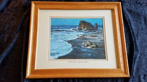 Signed Painting of Copalis Rock. for Sale in Auburn, WA