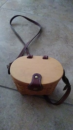 Wooden longaberger basket purse for Sale in Las Vegas, NV