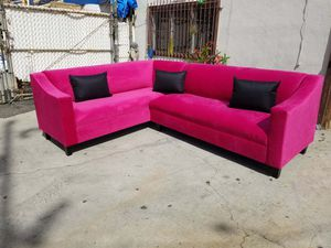 NEW 7X9FT PINK FABRIC SECTIONAL COUCHES for Sale in Lemoore, CA