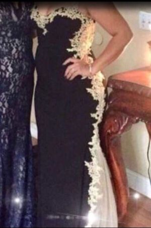 Prom Dress Black/Gold for Sale in Los Angeles, CA