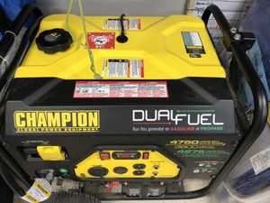 Generator - Champion dual fuel for Sale in Valley Center, CA