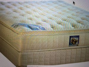 Queen pillow top mattress and box spring set 150 for Sale in Kansas City, MO