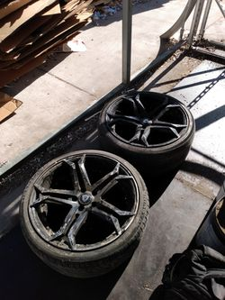 2 black rims for Sale in San Antonio,  TX
