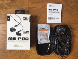 Musicians In-Ear Monitors Earbuds (MEE audio M6 PRO) for Sale in Chicago, IL