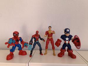 Spider-Man, Shazam, captain America action figures for Sale in Houston, TX