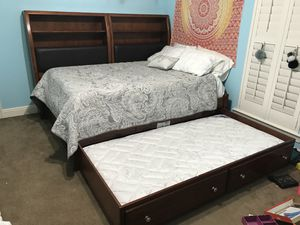 Full size daybed with bookshelves-I-comfort and Serta mattresses included for Sale in Covington, LA