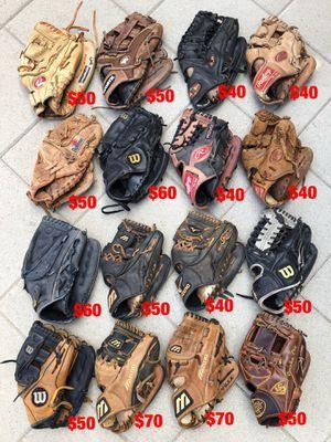Baseball gloves equipment bat Rawlings easton mizuno demarini Rolin Wilson nokona for Sale in Los Angeles, CA