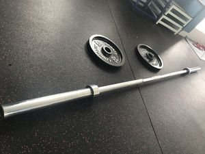 Barbell & 2x25 lb plates for Sale in Boston, MA