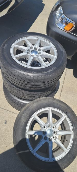 185 /65/15 new michelling tires with wheels for Sale in Long Beach, CA