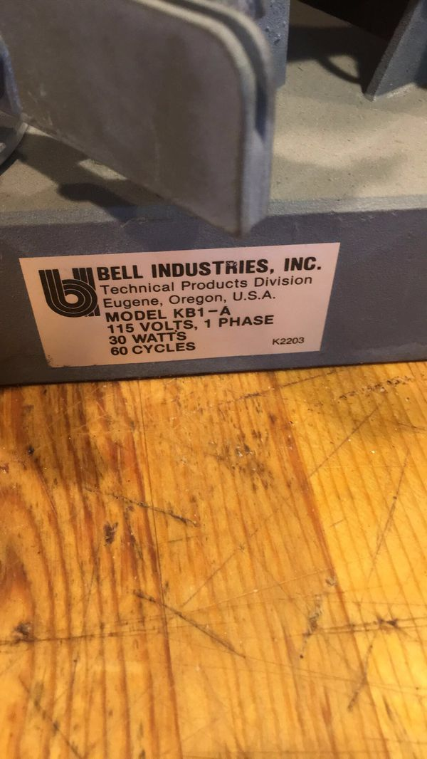 Chainsaw sharpener, Made In USA by Bell Industries, model kb1-a