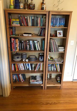 Bookcase light brown set of two for Sale in Washington, DC