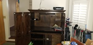 Brown Armoire with desk chair for Sale in Santa Rosa, CA
