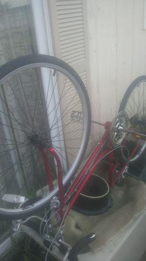 "Schwinn 1970s Woman's bike frame 27"" clean frame. Includes two wheels! for Sale in Saint CLR SHORES, MI"