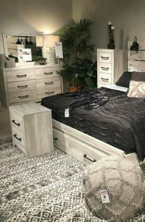 🧿BRAND NEW 🧿SPECIAL] Cambeck Whitewash Footboard Storage Bedroom Set for Sale in Jessup, MD