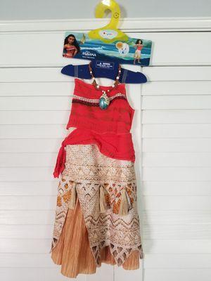 Disney Moana Costume Size Small/4-6x for Sale in La Mirada, CA