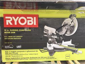 RYOBI 15 Amp 10 in. Sliding Compound Miter Saw for Sale in Richmond, CA