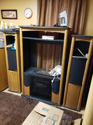 📢📢 FAMILY EMERGENCY MUST SALE PREOWN 3PC TECHWOOD STEREO CABINET AS IS TODAY 🤣 CASH AND CARRY ONLY FOLKS for Sale in Decatur, GA