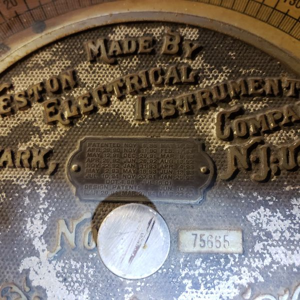 Large Antique Westing Voltmeters