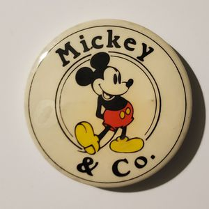 Vintage Mickey And Co Pin Pinback Button Walt Disney Productions Mouse J.G. Hook for Sale in Auburn, WA