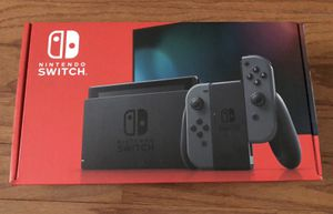 Nintendo Switch Video Game Console with Gray Joy-Con Controllers - Version 2 - Newest Model for Sale in Elyria, OH