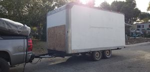 14' box trailer (this was a camping project. Just dont have time to finish now) for Sale in LAKE MATHEWS, CA