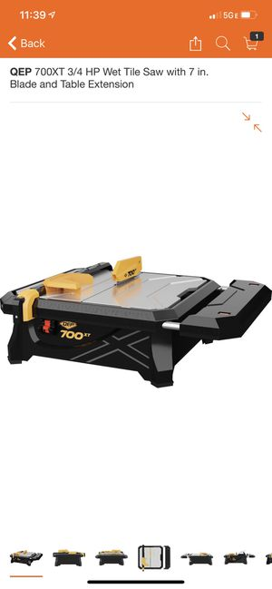 QEP 700XT 3/4 HP Wet Tile Saw with 7 in. Blade and Table Extension for Sale in Los Angeles, CA