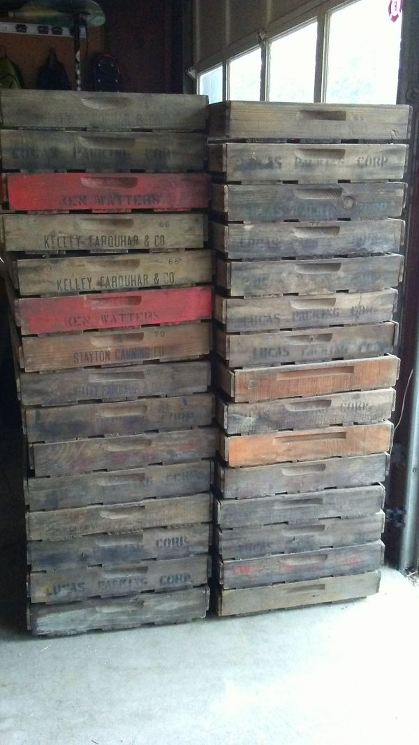Antique Wooden Berry Fruit Box Crate Flat