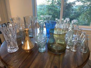 Wide assortment of Vases, decanter, glassware etc for Sale in Auburn, WA