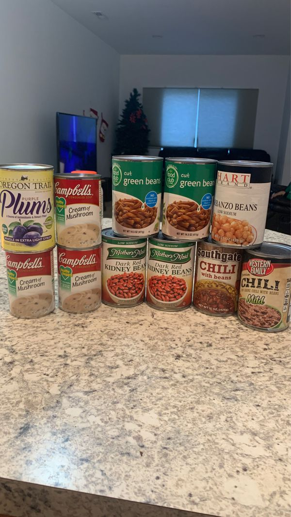 Free canned goods