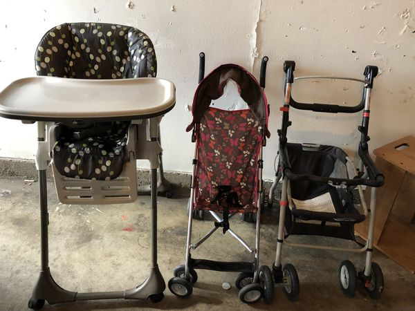 Strollers. High chair.