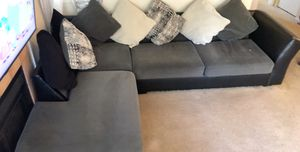 Sectional Gray and black for Sale in San Jose, CA