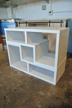 Adjustable 2 Pc Multi Configuration TV Stand Shelf Set in White for Sale in Mesa, AZ