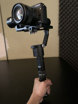 Canon m3 camera with Hand held camera stabilizer for steady filming & movie motions for Sale in National City, CA