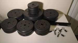 22 piece black discs sand filled weight dumbbell set for Sale in Columbus, OH