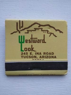 Wesward Look Ranch Inn Tucson Arizona Vintage Front-Strike Matchbook for Sale for sale  El Paso, TX