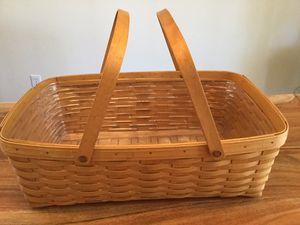 Large Longaberger Basket with Liner for Sale in Kent, WA