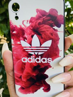 Brand new cool iphone XR case cover silicone rubber ADIDAS Red And White GIrls guys womens mens hypebeast hype fundas for Sale in San Bernardino,  CA