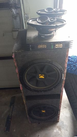 Kicker 12s with amp and Memphis speakers for Sale in Houston, TX