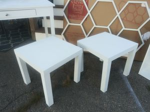 2 Side Tables, white for Sale in Brockton, MA