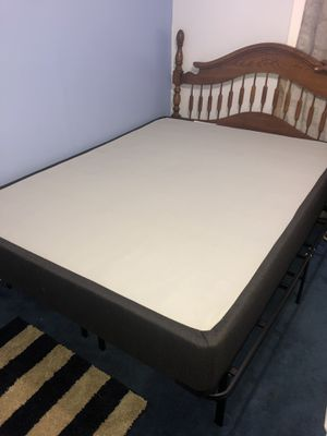 Used mattress with brand new bed frame for Sale in Kansas City, KS