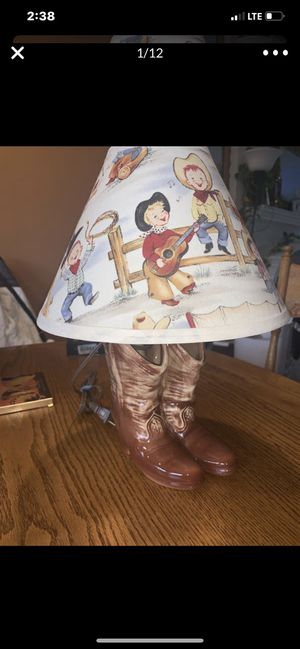 Vintage Rare 1956 Cowboy Children's Lamp Excellent condition for Sale in Seattle, WA
