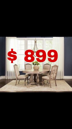 Beautiful new 5 piece dining table set (1 table & 4 chairs) only 899$!!! for Sale in San Leandro, CA
