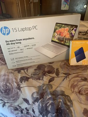 Brand New Sealed HP Pavilion Silver Laptop 15-dy1031wm Notebook And WD 1TB USB External Hard Drive for Sale in St. Louis, MO