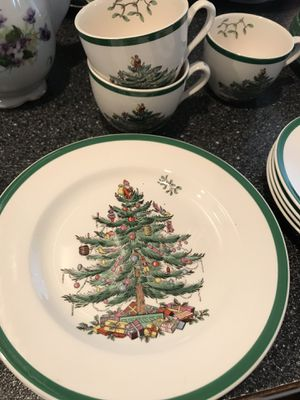 Spode England Christmas tree dishes lot for Sale in Gig Harbor, WA