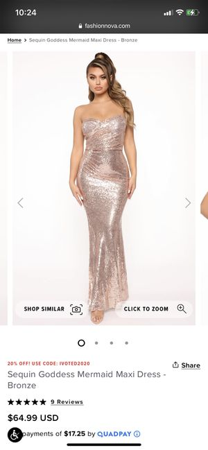 FashionNova Sequin gold dress for Sale in Fort Lauderdale, FL