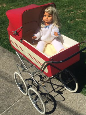 1960s old nice vintage doll stroller with a doll for Sale in Canonsburg, PA