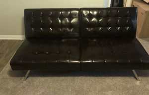 2 Dark brown leather futons for Sale in Mooresville, NC