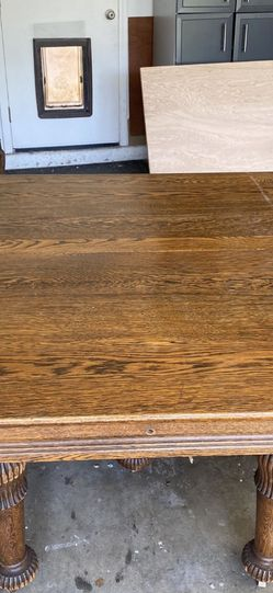 Vintage Antique Oak Dining Table Expansion Pick Up Or Delivery La Mesa for Sale in Spring Valley,  CA