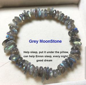Natural Grey Moonstone Crystal Chakra bracelet for Sale in Clermont, FL