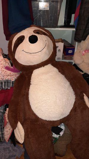 Giant stuffed sloth for Sale in Newton, KS